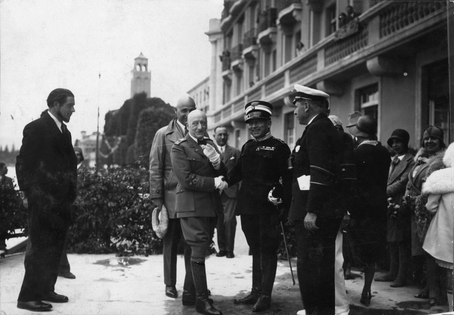1939 – Gabriele D'Annunzio e il Re Vittorio Emanuele III