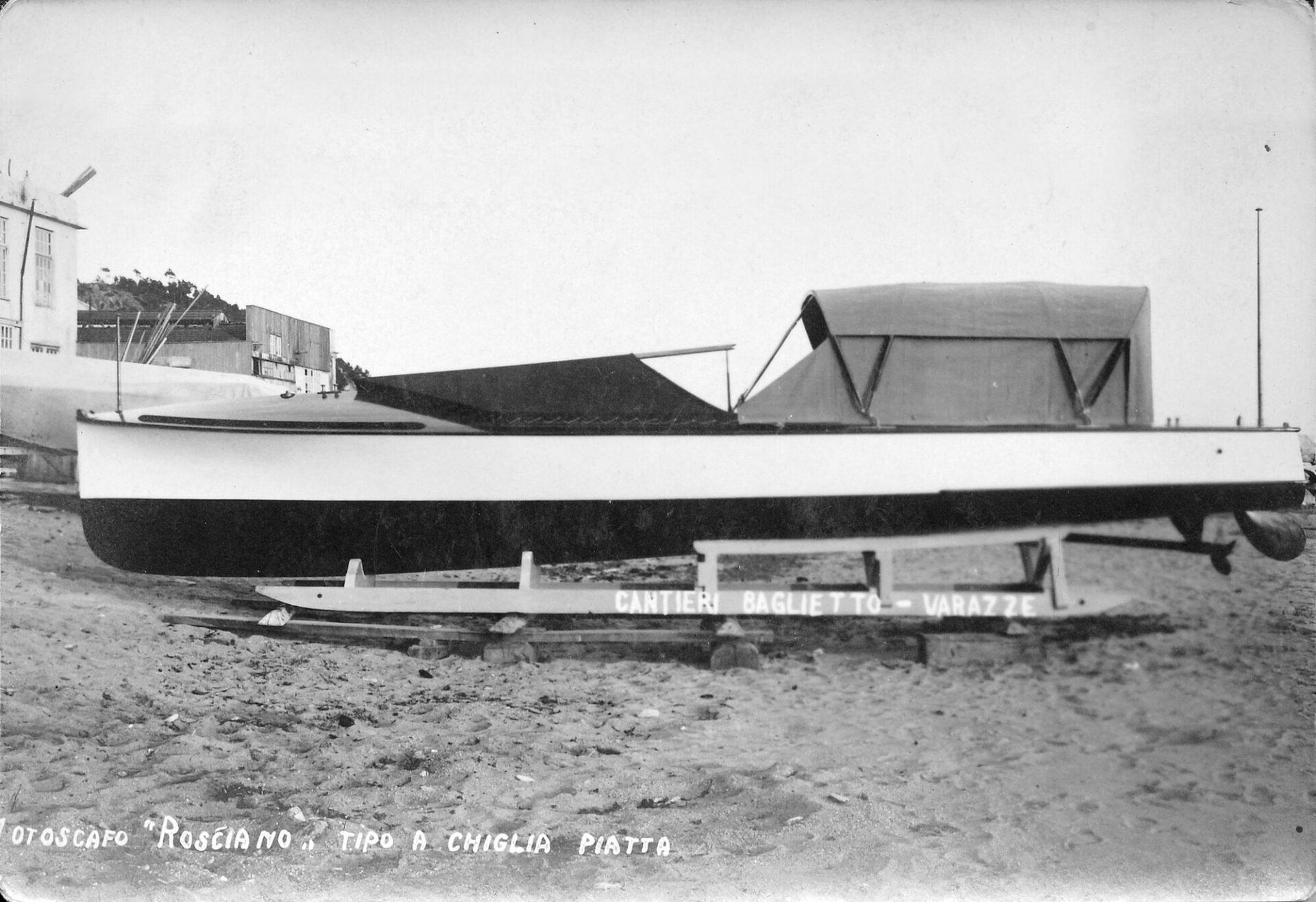 1935- Motoscafo a chiglia piatta