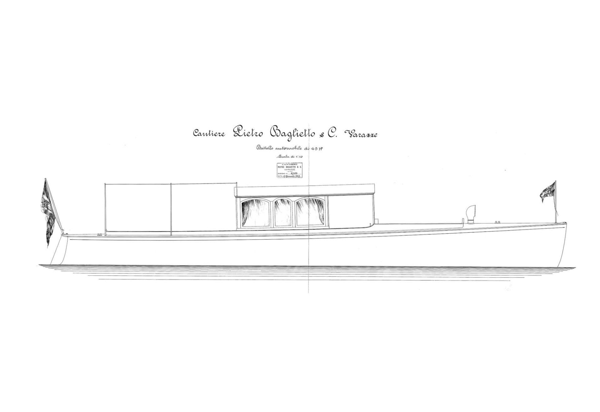 1907 - Progetto per un battello automobile