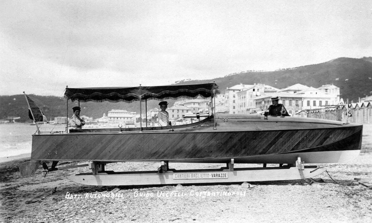1913-Battello automobile destinato a Costantinopoli