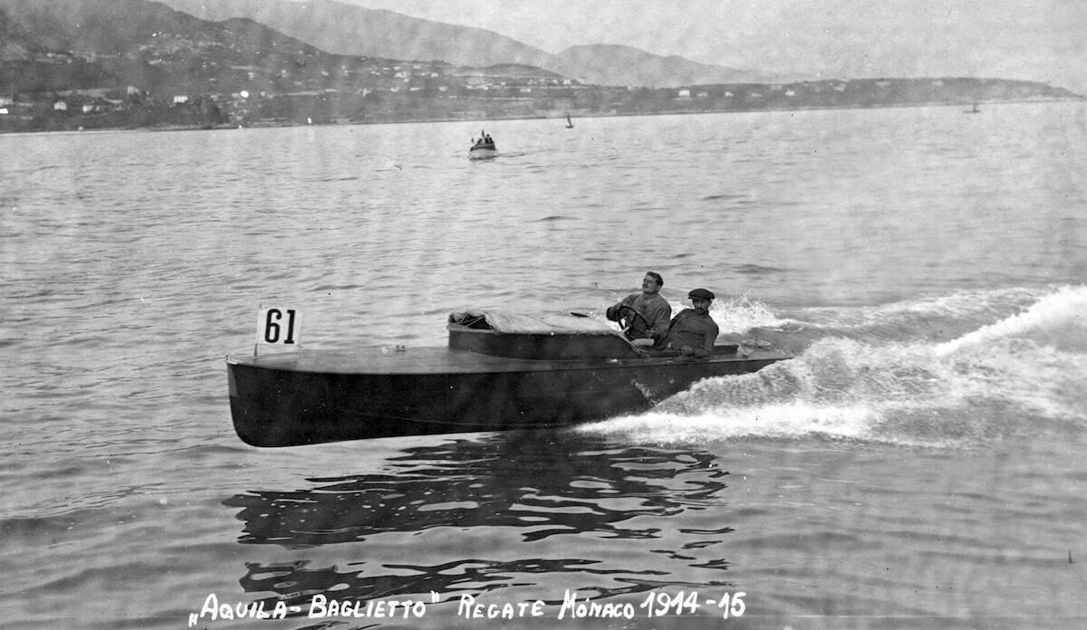 1914 -Aquila alle gare motonautiche di Monaco