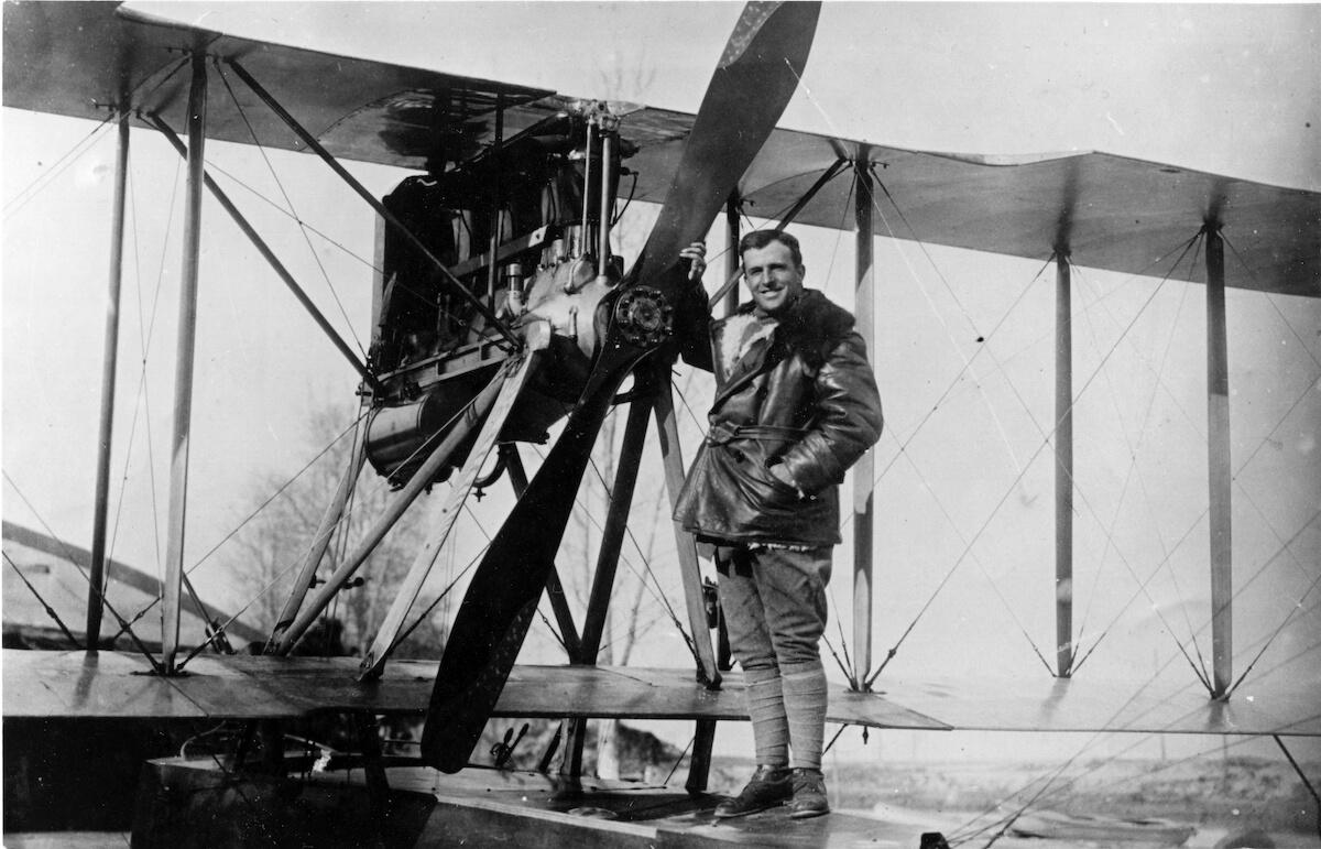 1915-1917 - Stefano Baglietto aviatore e collaudatore sul suo Macchi M7
