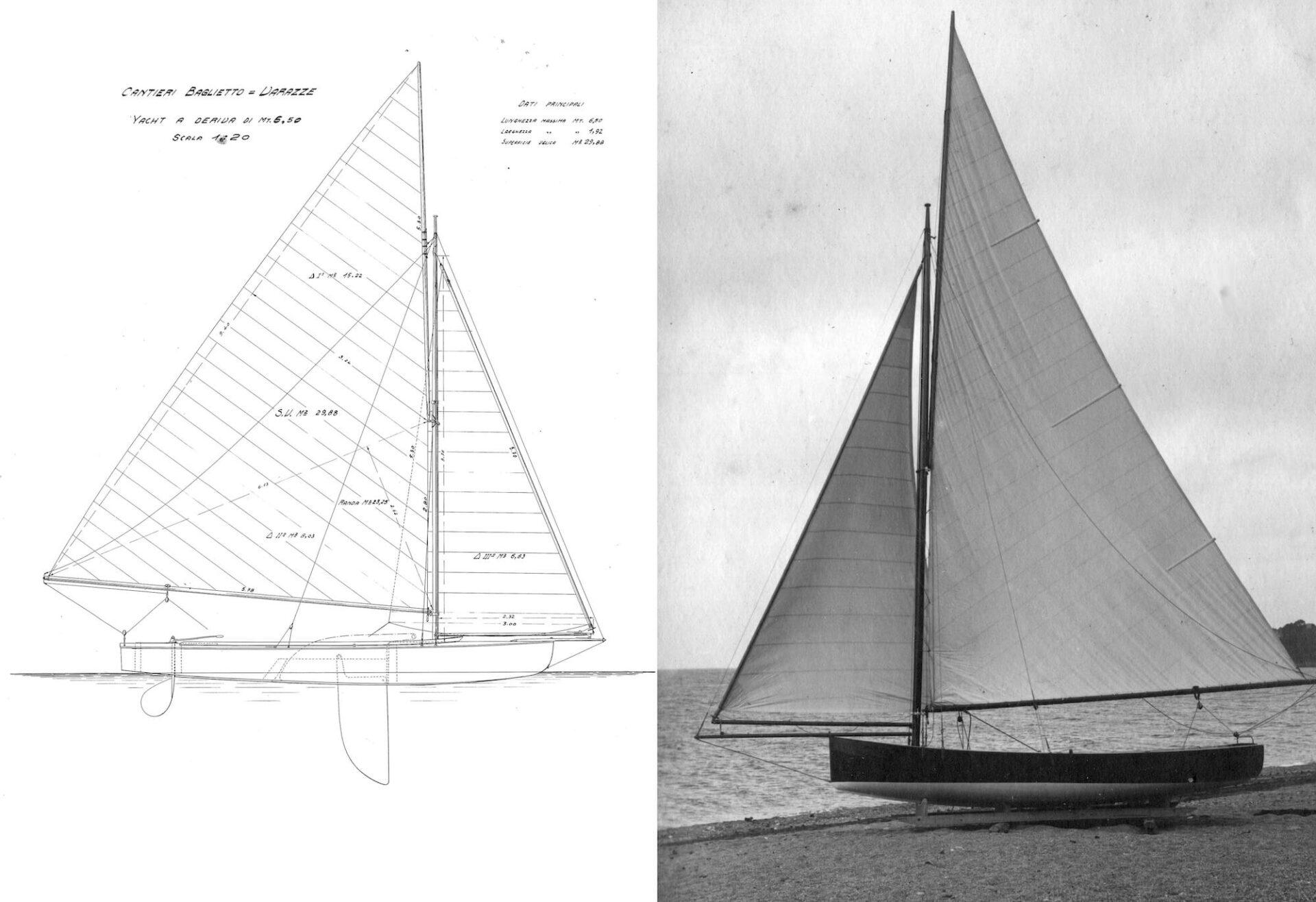 1918 – Yacht a deriva 6.50 m