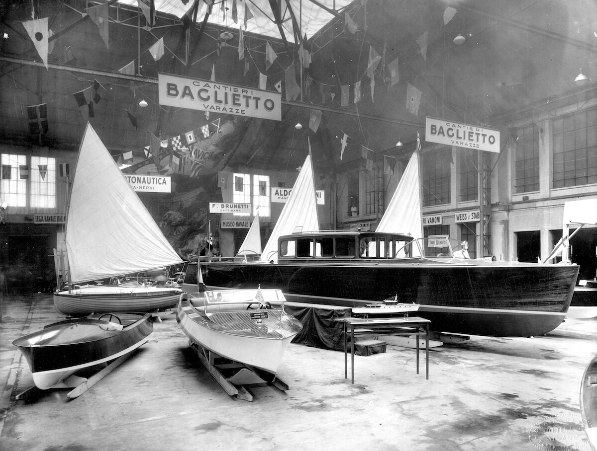 1932 - Motoscafo Alcione per G. D'Annunzio alla Fiera Campionaria Milano