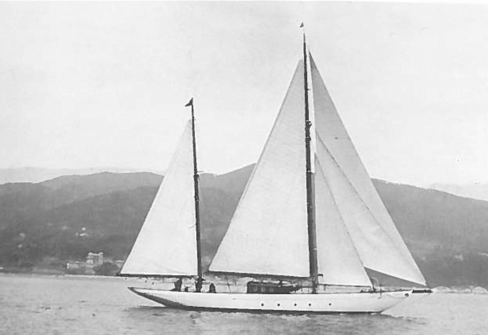 1928 – Ketch Janua in navigazione