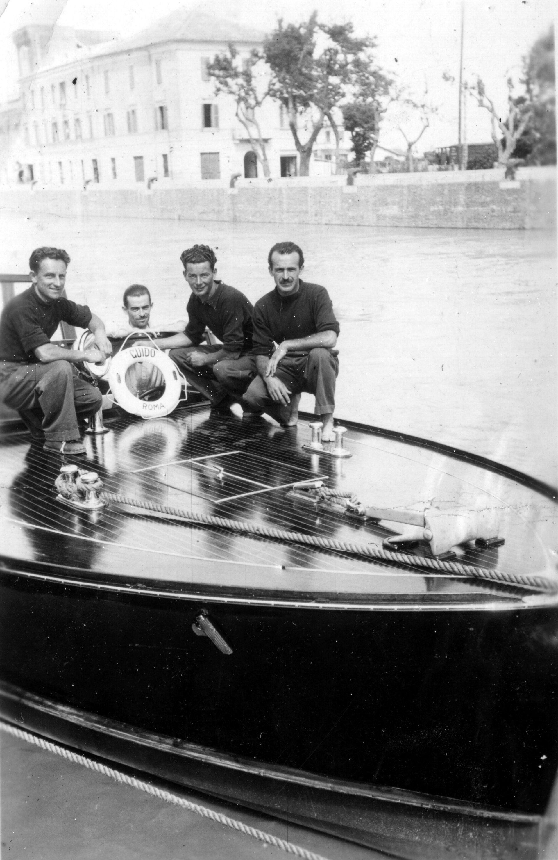 1938 – Guido, motoscafo per Benito Mussolini in prova